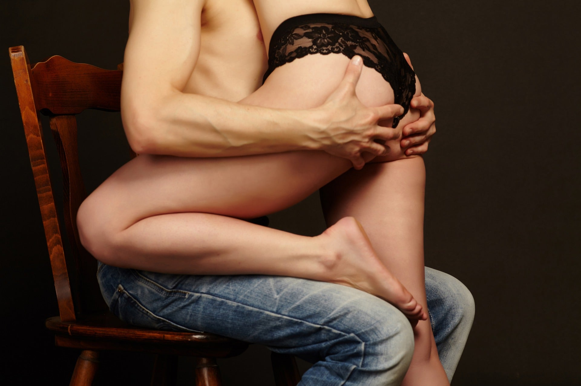 Couple engaging in intimacy
