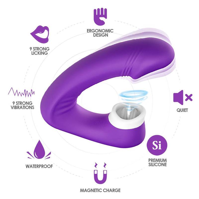 Clit Licking Dual Vibrator Licking Vibrator Your Pleasure Toys