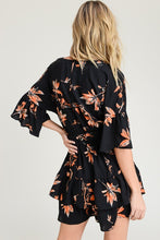 Load image into Gallery viewer, Black And Rust Ruffle Dress