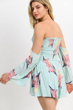 Load image into Gallery viewer, Mint Floral Romper