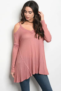 Mauve tunic top