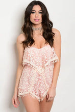 Load image into Gallery viewer, Pink lace romper