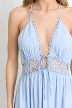 Load image into Gallery viewer, Blue crochet detail Maxi