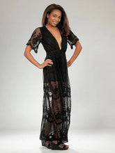 Load image into Gallery viewer, Lace Maxi Romper