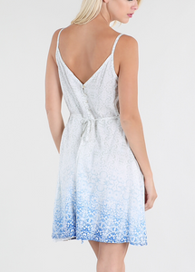 Cream blue Ombre print