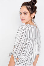 Load image into Gallery viewer, Stripe 3/4 sleeve Blouse