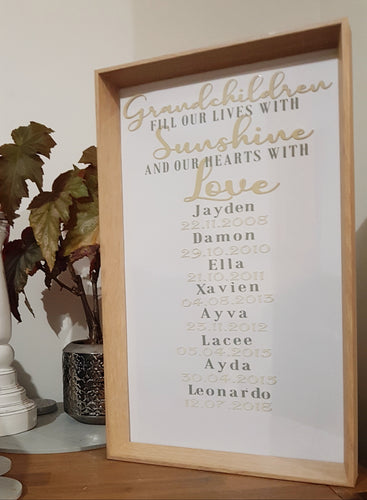 Large Grandchildren frame