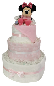 Minnie Mouse 3 Tier Nappy Cake