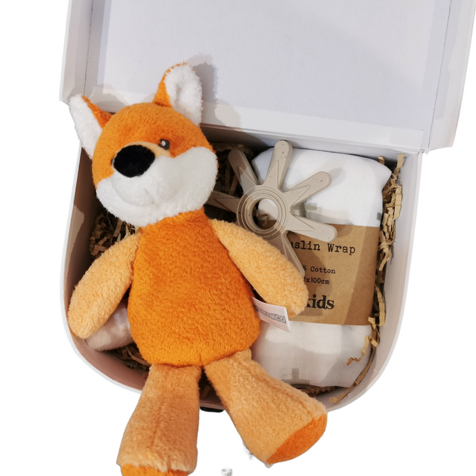 Felix the Fox Rattle Suitcase Gift Set