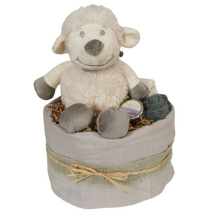Sheep Unisex 1 Tier Nappy Cake