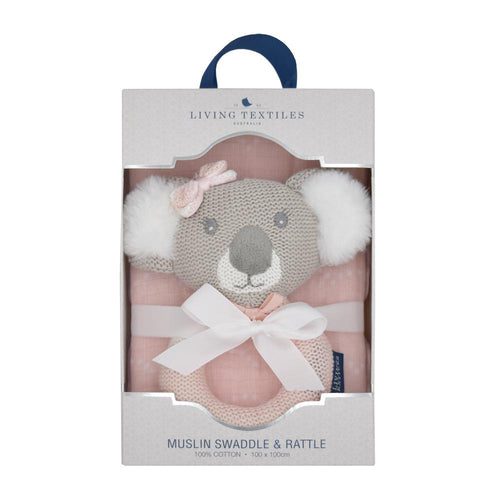 Chloe the Koala Rattle & Muslin Wrap set