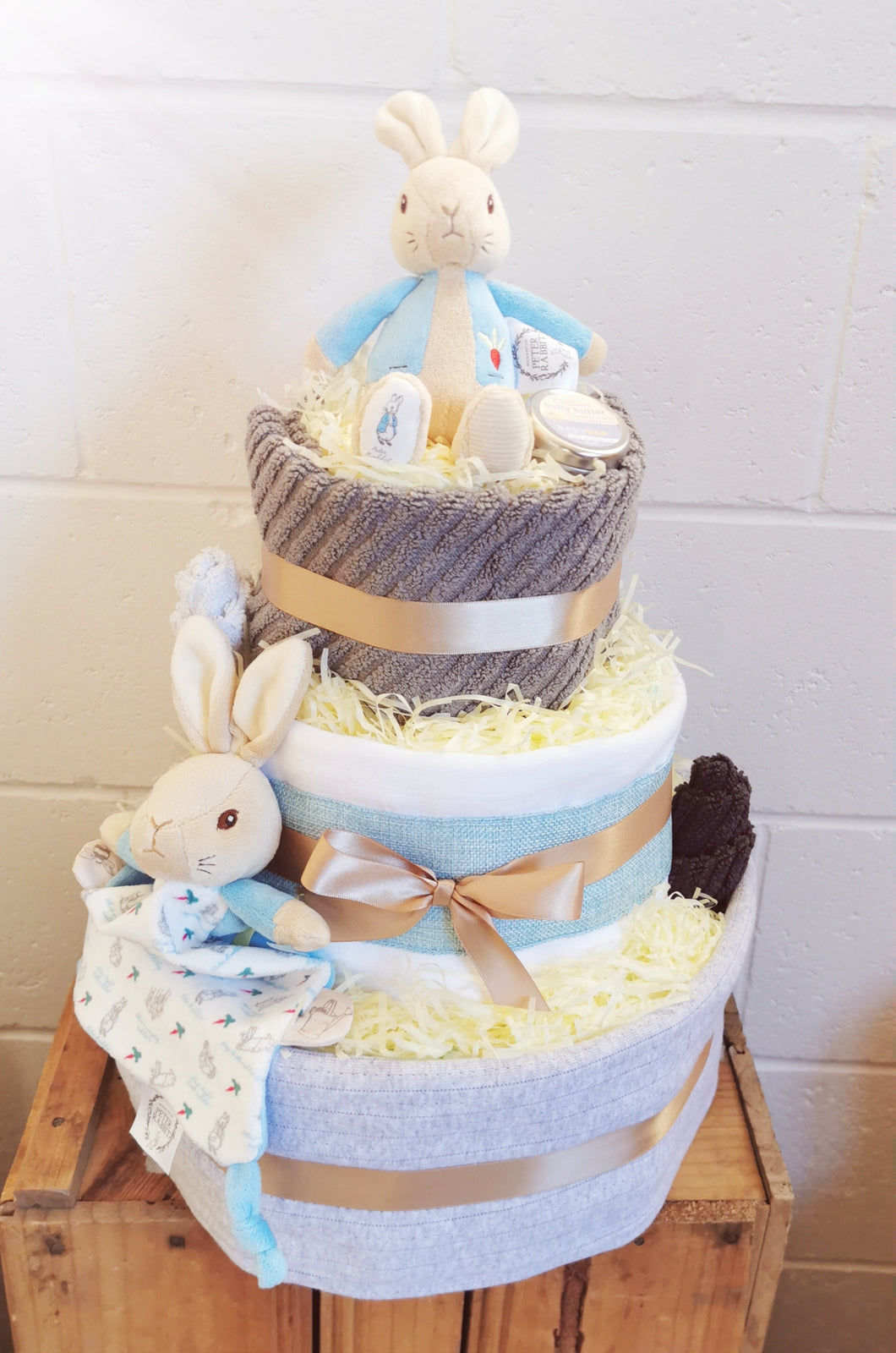 Peter rabbit - 3 tier nappy cake