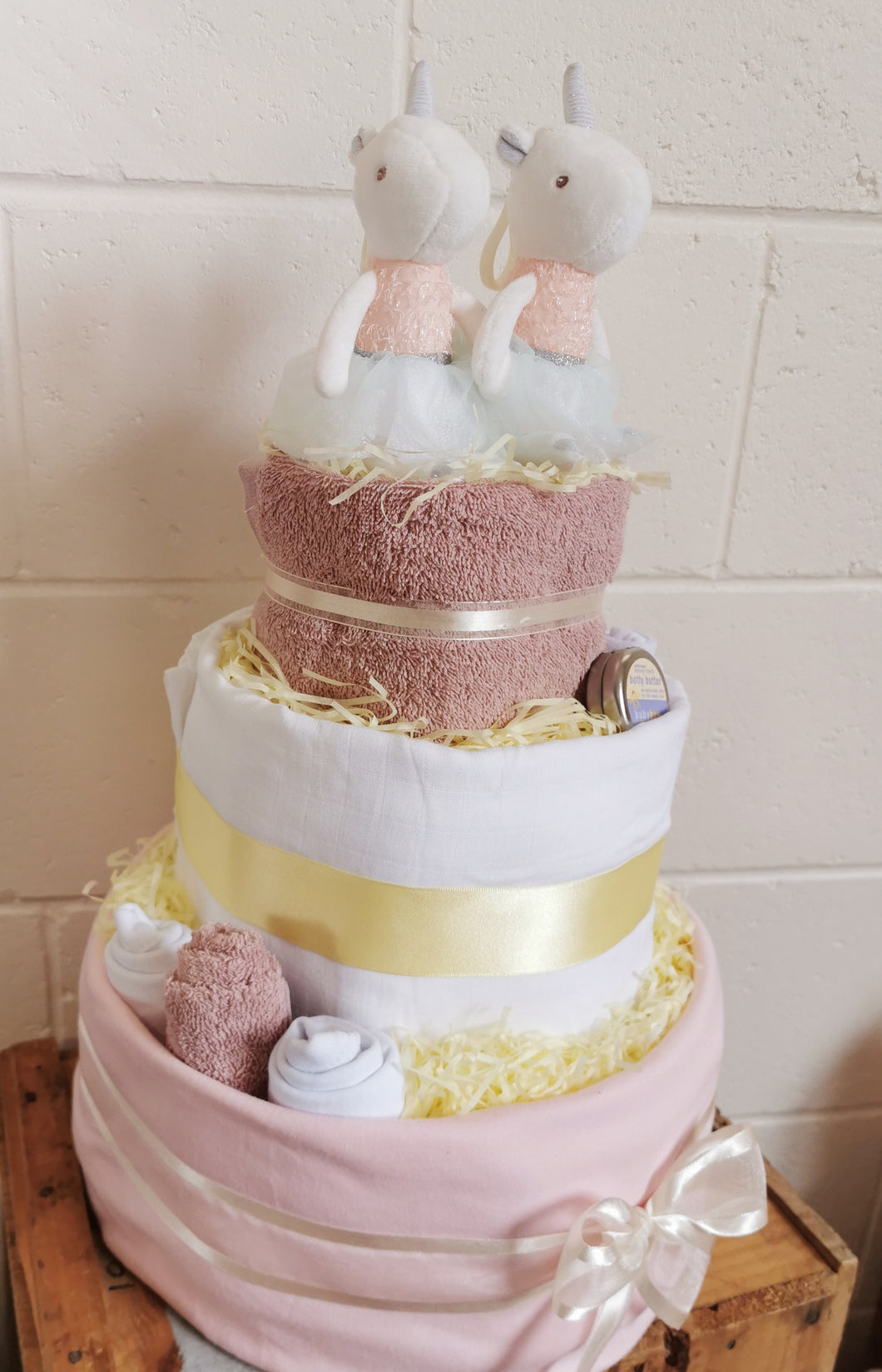 Unicorn Twin Nappy Cake