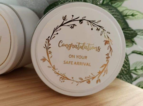 Floral Congratulations On Your Safe Arrival ECO - U candle