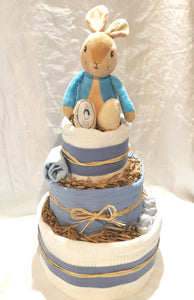 Blue Peter Rabbit 3 Tier Nappy Cake