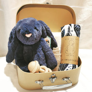 Boutique Navy Suitcase Gift Set