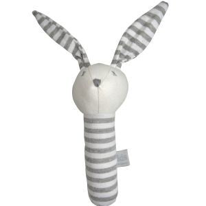 ES Kids Grey Bunny Stick Rattle