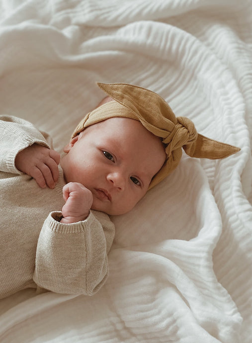 Top Knot Headband - Flax