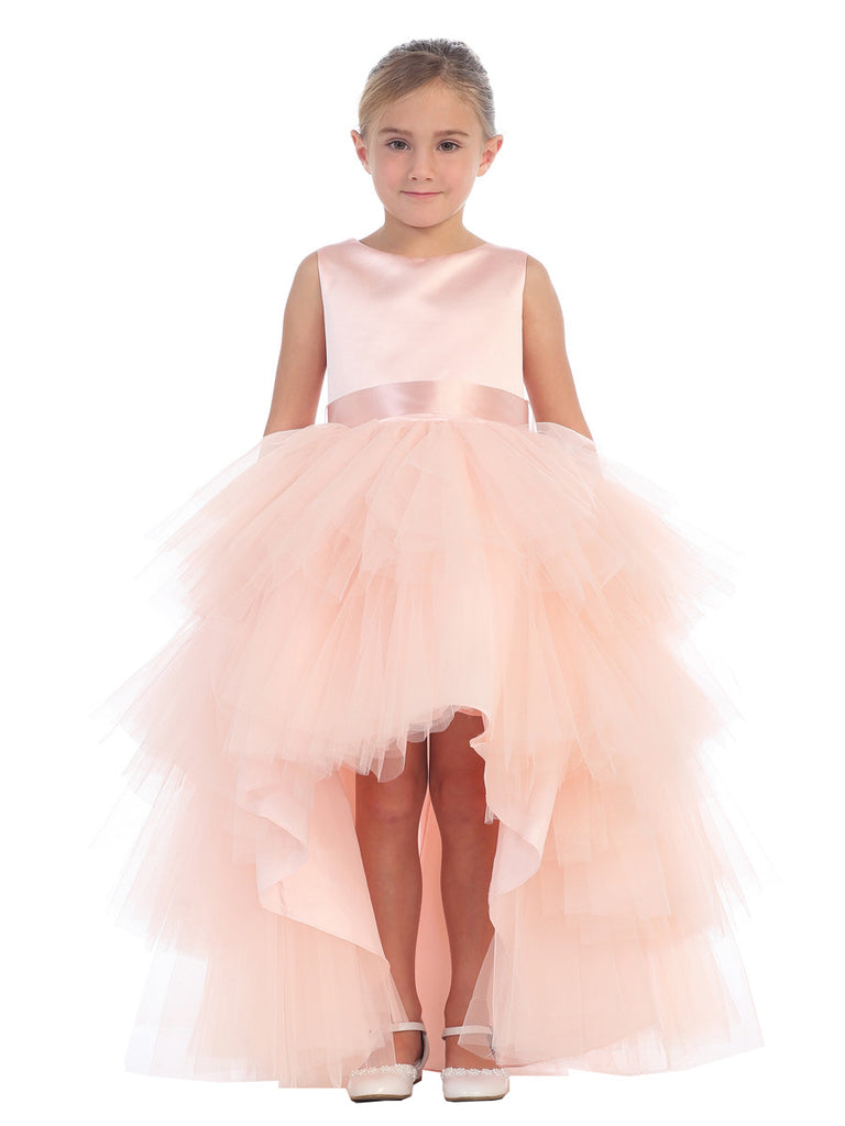 cbbf8aad65 Childhood Way Boutique - Girls High Low Tulle Skirt Flower Girl Dress