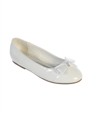 Girls Patent Leather Flats With Bow