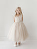 Girls Glitter Tulle V - Neck Special Occasion Dress