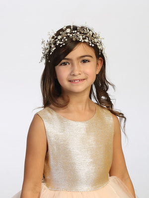 Girls Beaded Floral Headpiece