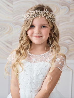 Beaded Wire Headpiece with Rhinestones
