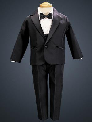 Boys Black One Button Tuxedo