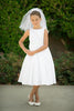 Classic Pleated First Communion Dress