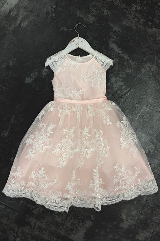 Cristina Lace Flower Girl Dress