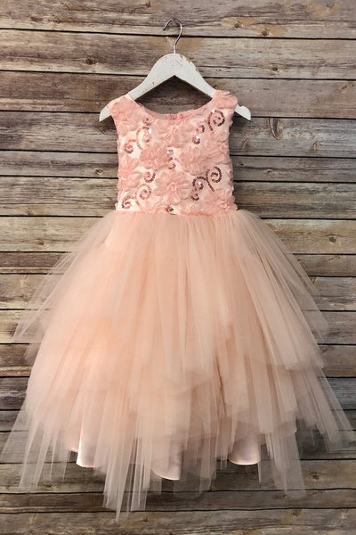 Girls Amber Flower Girl Dress