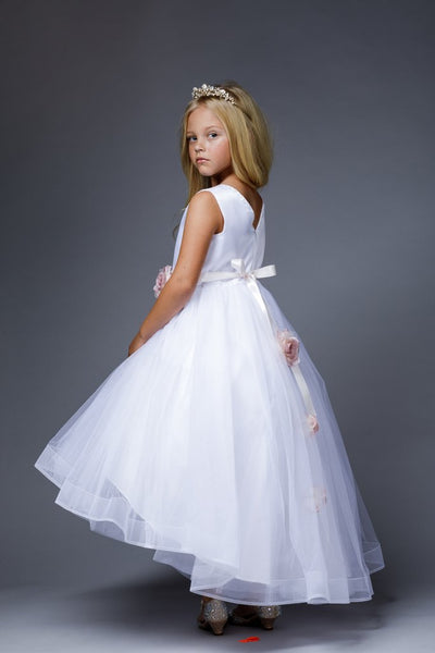 Girls Savannah White Dress