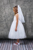 First Communion Flower Embroidered Dress