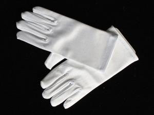 Girls Short Satin Gloves