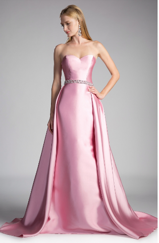 Mikado  Strapless Gown With Overskirt