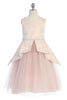 Girls Bird Pleated Peplum Dress