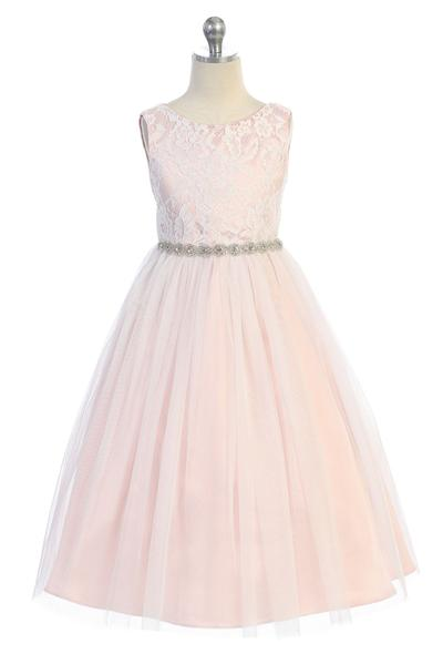 Girls Waterfall Flower Girl Dress