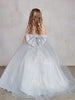 Girls Sparkle Tulle Big Bow Dress with Train