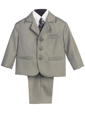 Boys 5pc Light Gray Formal Suit