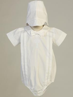 Brandon Celtic Cross Baptism Romper