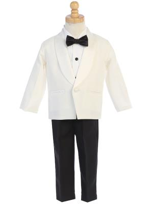 Boys Ivory One Button Tuxedo