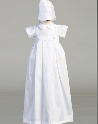 Boys Christening Gown with Romper