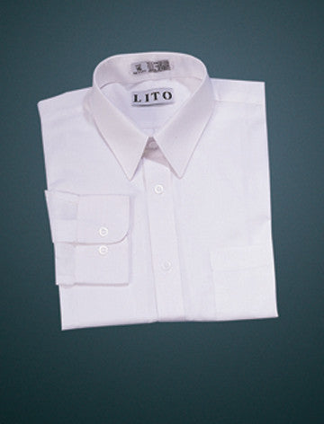 Boys  White Long Sleeve Dress Shirt