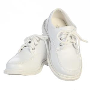 Boys White David Leather Shoe