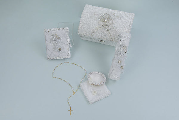 Baptism Candle Set with Keepsake Box