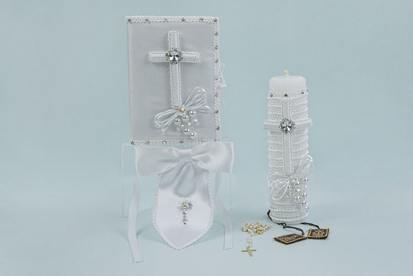 First Communion Cross Candle Set