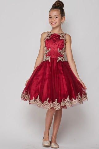 Girls Crystal Organza Party Dress