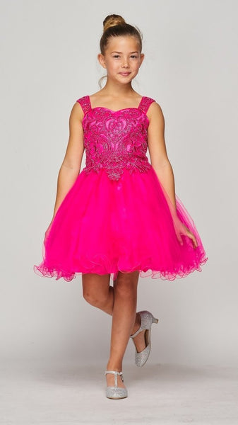 Girls Sweet Heart Neckline Party Dress