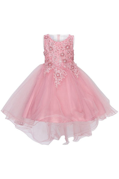 Girls Elegant 3D Flower Dress