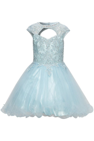 Girls Sweetheart Neckline Party Dress